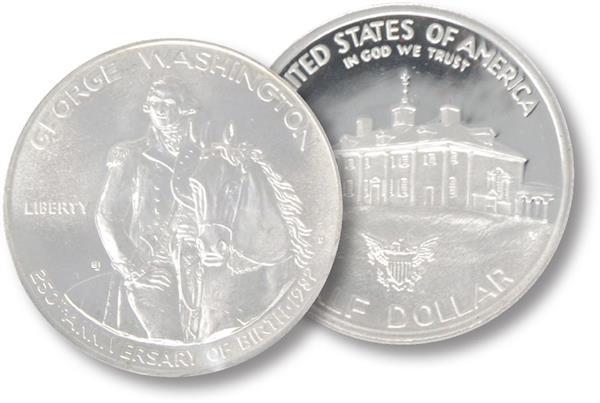 1982 George Washington Uncirculated Half Dollar Commemorative