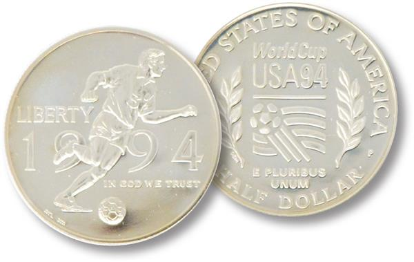 1994 World Cup Clad Half Dollar, Proof