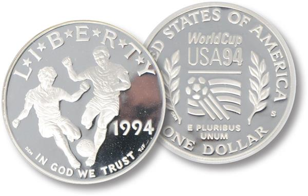 1994 World Cup Silver Dollar, Proof