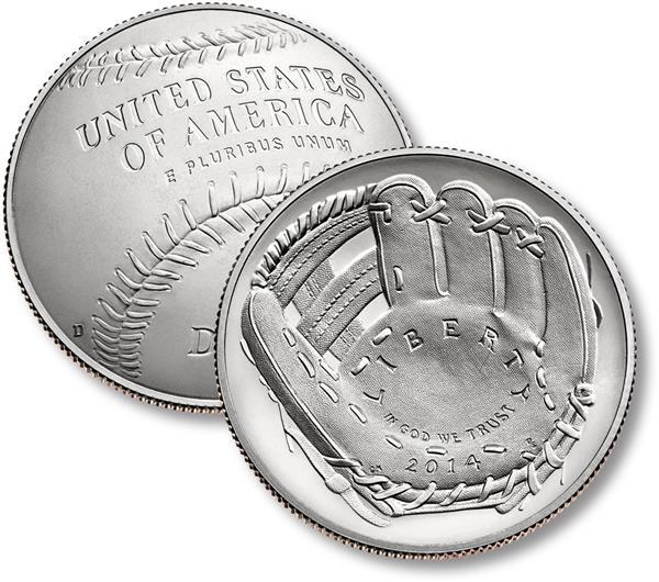 2014 Baseball Hall of Fame Clad Half Dollar, Proof
