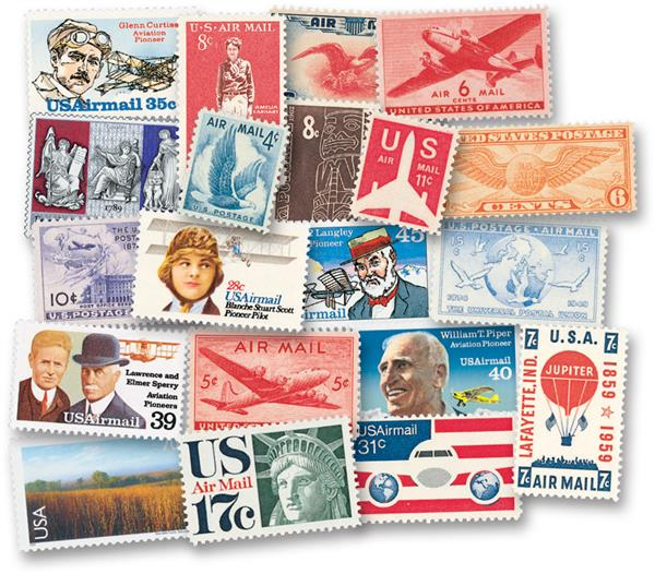 1932-2012 US Airmail Starter Collection, 87 Stamps