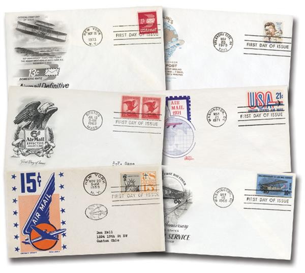 35 Different Airmail First Day Covers