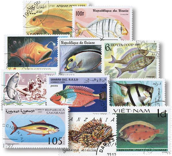 Saltfish 75 Different Stamps