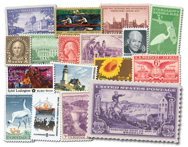 200 Mint US Stamps