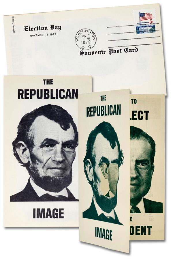 "Lincoln/Nixon ""The Republican Image"" Souvenir Post Card from Election Day 1972"
