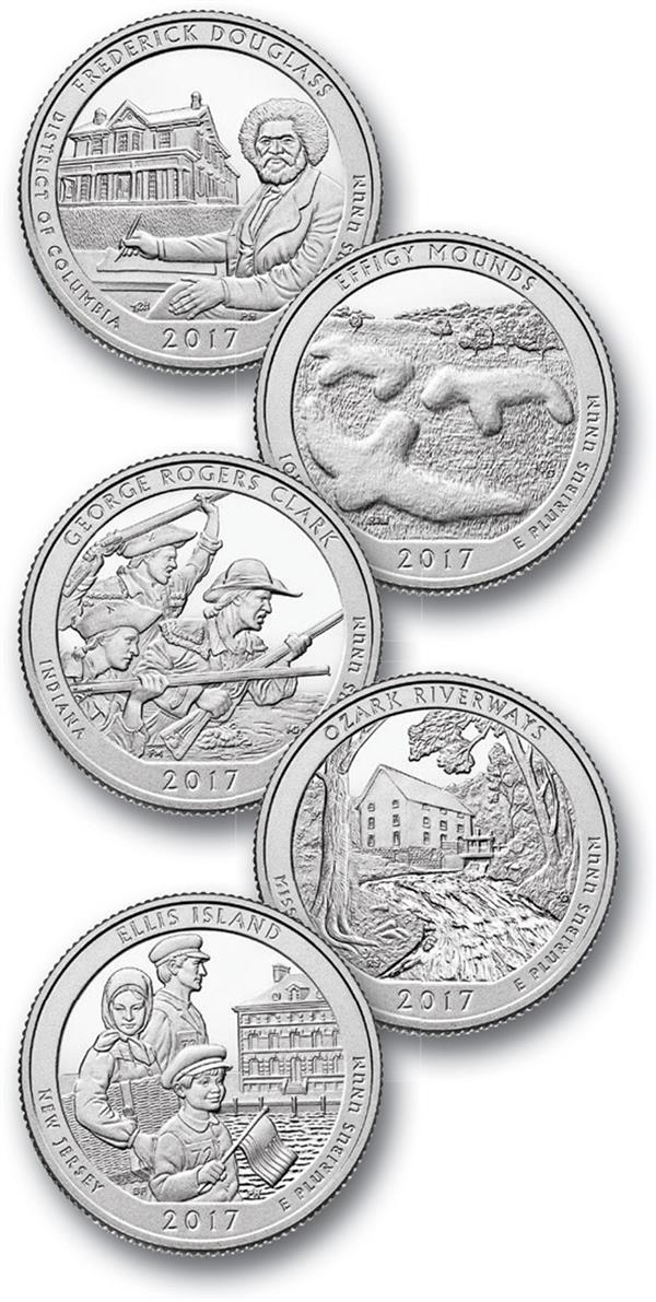 2017 US National Park Quarters, Set of 5