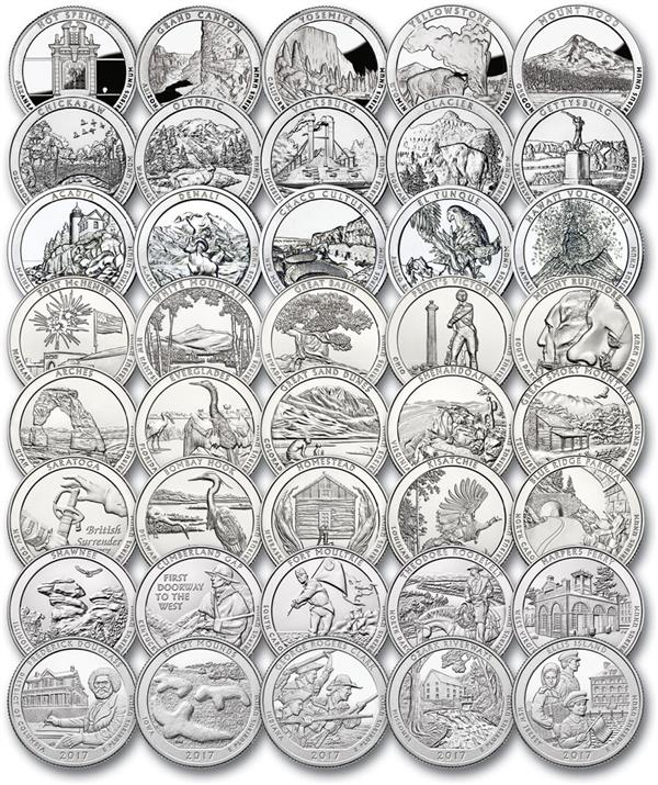 2010-17 US National Park Quarters, 40 Variety