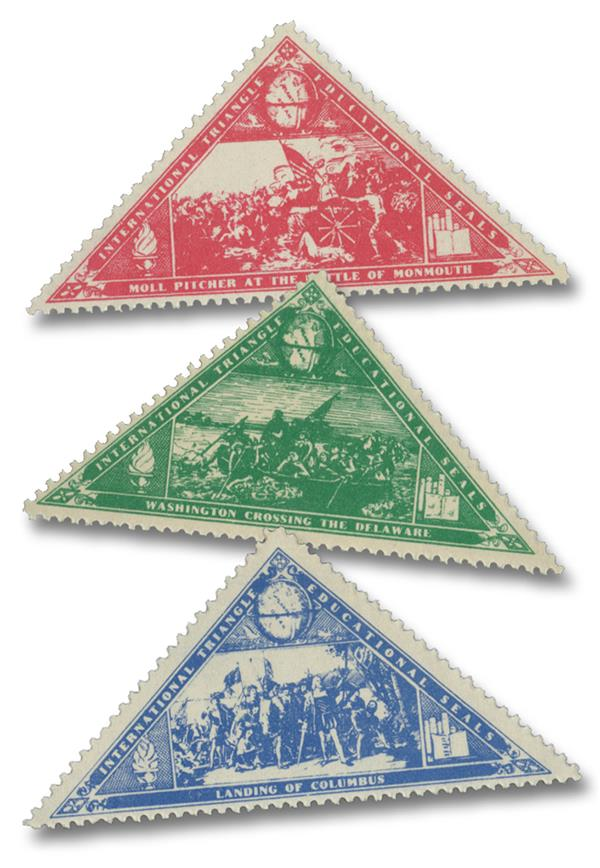 Set of 3 International Triangle Educational Seals