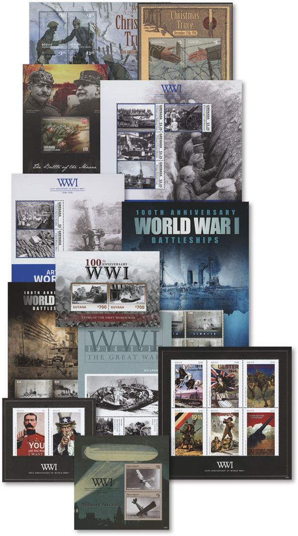 2014-15 Set of 12 World War I Sheets