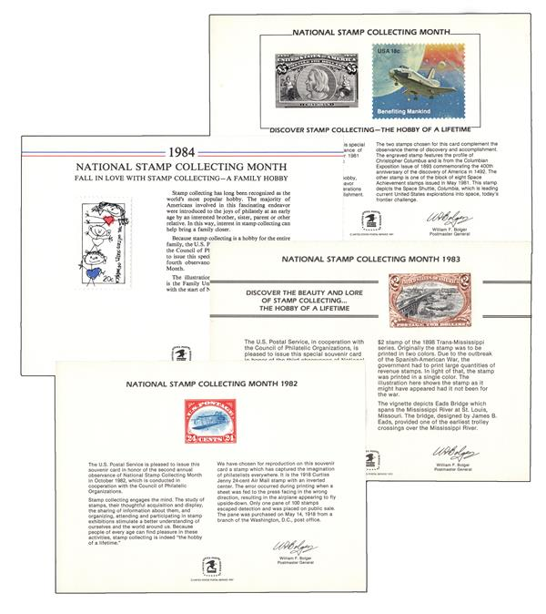 Stamp Collecting Month Souvenir Card - One of Mystics Choice SC72, SC78, SC88 or SC98