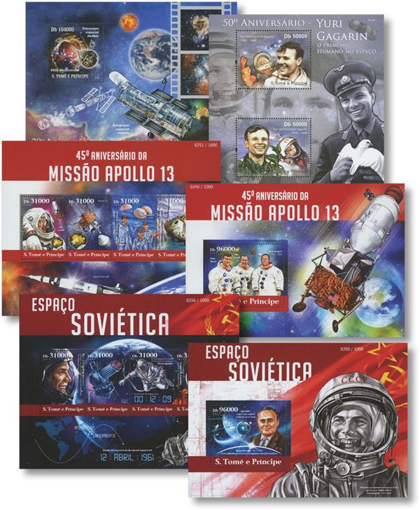 2010-15 St. Thomas Space Sheets, Set of 6