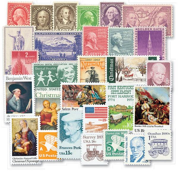 100 Mint US Stamps for Volume 1 American Heirloom Album