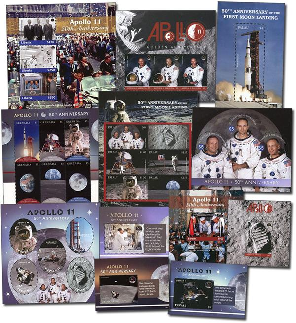 Apollo 11 50th Anniversary, 6 sheet and 6 souvenir sheets