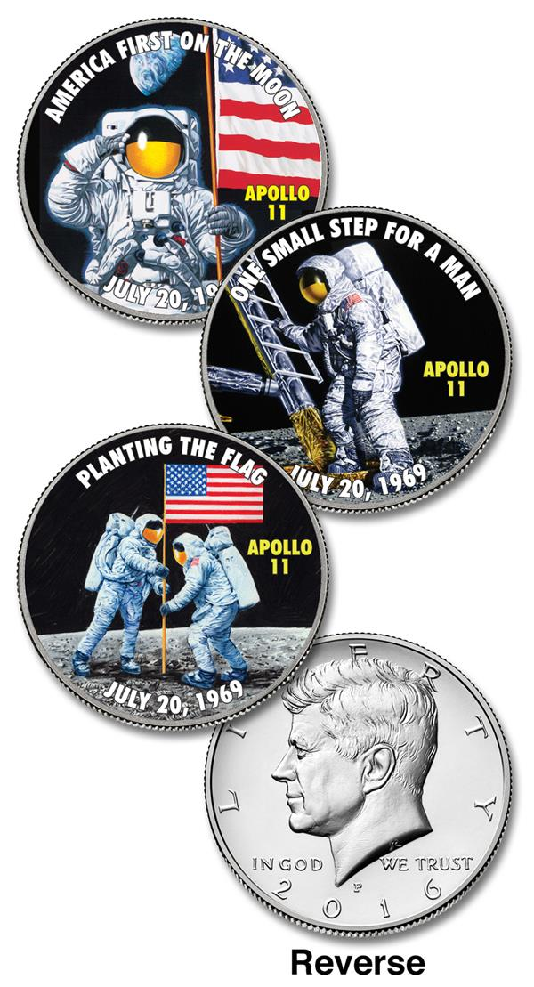 Moon Landing Coins, Set of 3