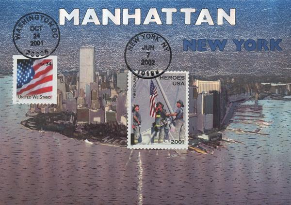 2001 9/11 Postcard - View of Manhattan