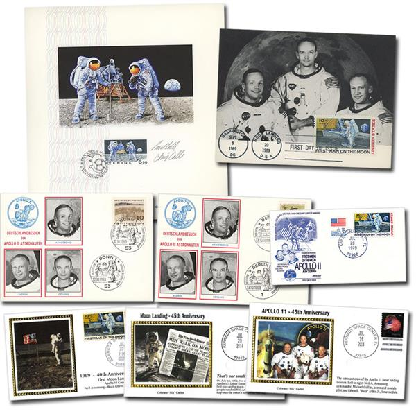 8 Different Commemorative Covers and Cards Celebrate Moon Landing