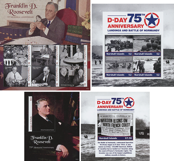 2019 75th Anniversary of D-Day, Set of 4 Sheets