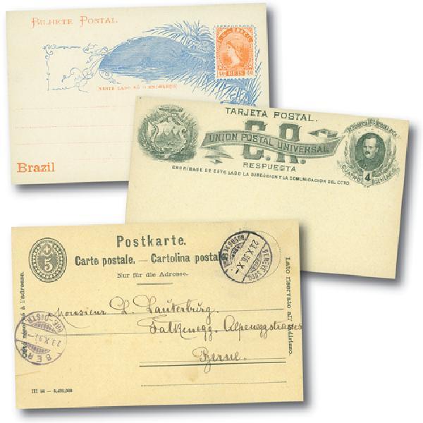 Worldwide Postal Stationery, set of 50