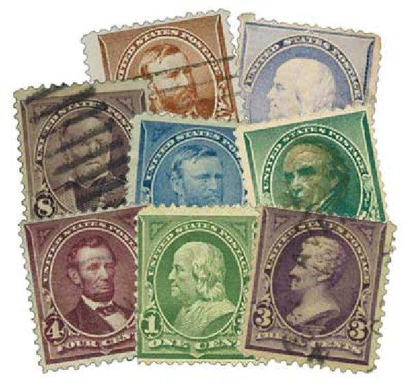 1887-98  Reg Issues, 12 stamps, used