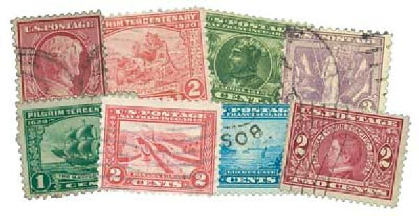 1909-20 Commemoratives, 8 stamps, used