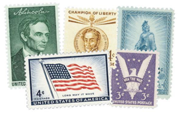 1950-59 Commemoratives, 118 stamps, mint