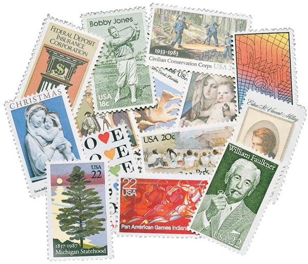 1980s Commemoratives, 490 stamps, used