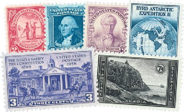 1930s Commems 93 stamps, mint