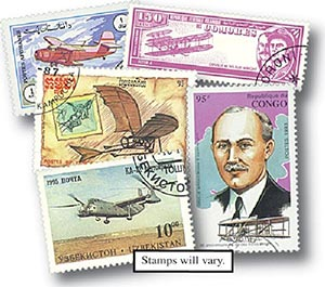 Aviation, 200 used worldwide stamps