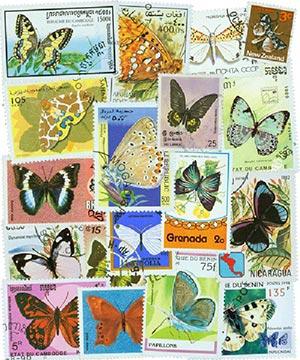 Butterflies, set of 200