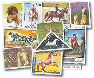 Horses, set of 200 used