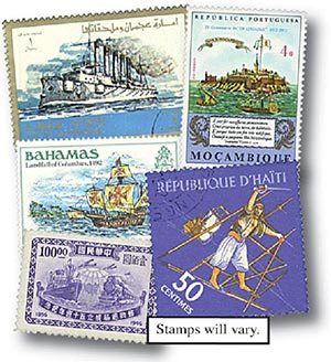 Ships & Boats, 200 stamps, Used