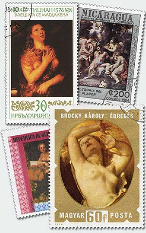Art on Stamps, set of 50