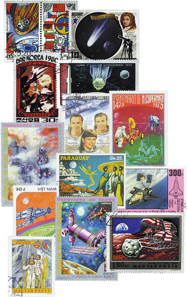 Worldwide Space Stamps 300v