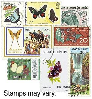 Butterflies & Moths set of 100, used