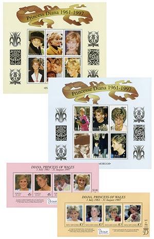 Princess Diana set of 4 Sheets