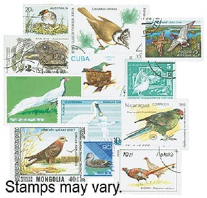 Birds, 300 stamps, Used