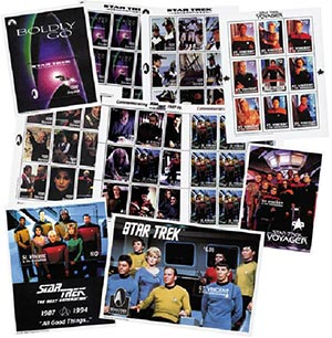 Star Trek Collection, Mint, Set of 6 Sheets and 4 Souvenir Sheets, Worldwide