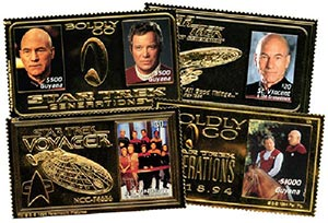 Item #M5510 – Star Trek gold foil stamps.