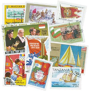 Flags, 200 stamps, Used