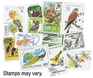 Birds, 200 stamps, Used