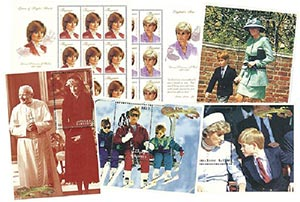 Princess Diana Mint Sheet Collection, Set of 6, Worldwide