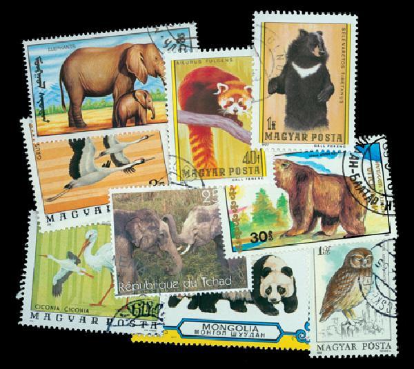 Endangered Species 100 used stamps