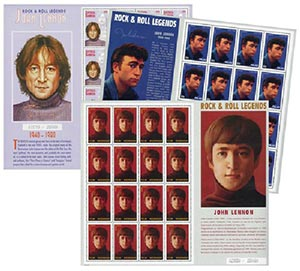 John Lennon Collection, Mint, 9 Sheets, Worldwide