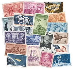 1945-69 US Commemorative Collection, Mint, 361 Stamps
