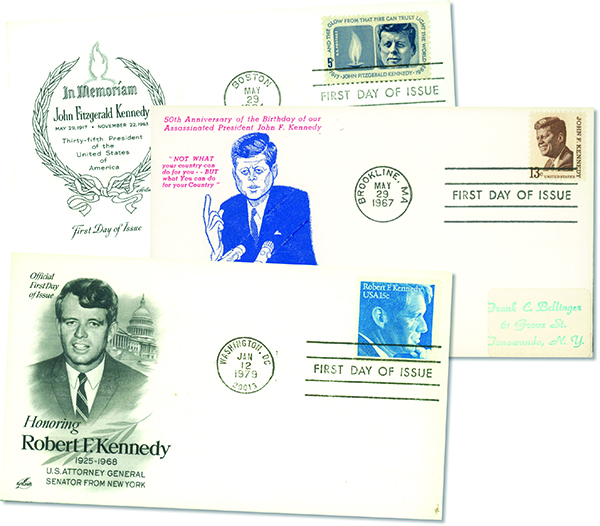 The Kennedys 3 First Day Covers