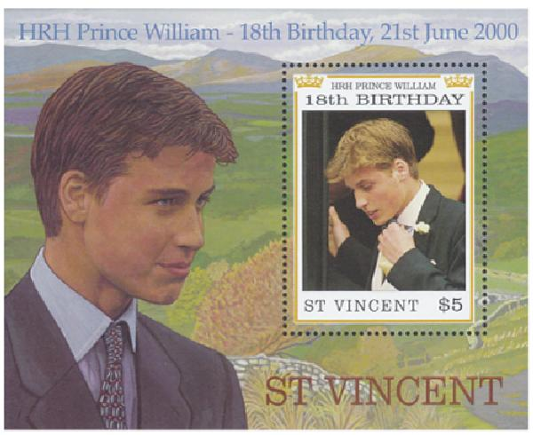 Prince William Mint Souvenir Sheet Collection, Set of 9, Worldwide