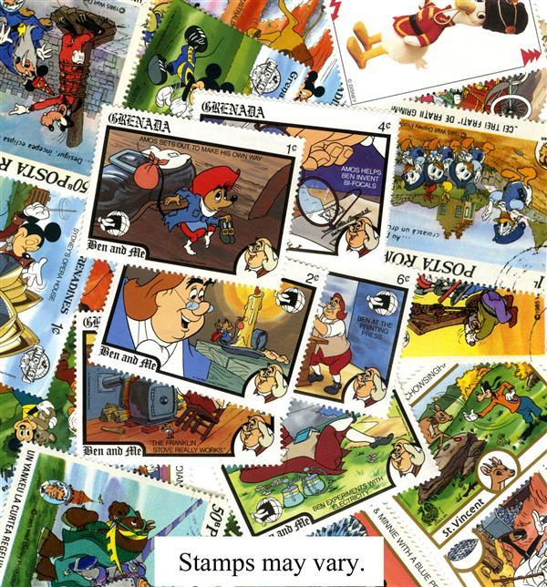 Walt Disney, 25 stamps