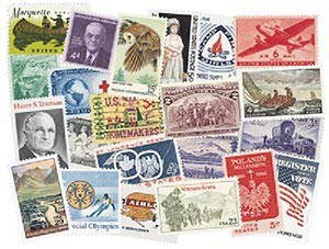 1/4lb. US Commemoratives off paper, used
