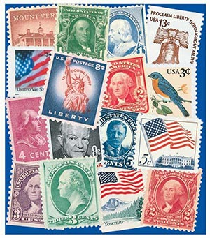 US Definitive Collection - 650 Used Stamps