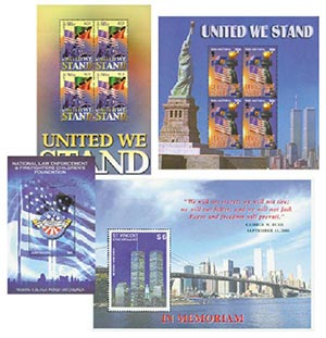 Item #M7863 – Collection of 20 mint United We Stand stamps.